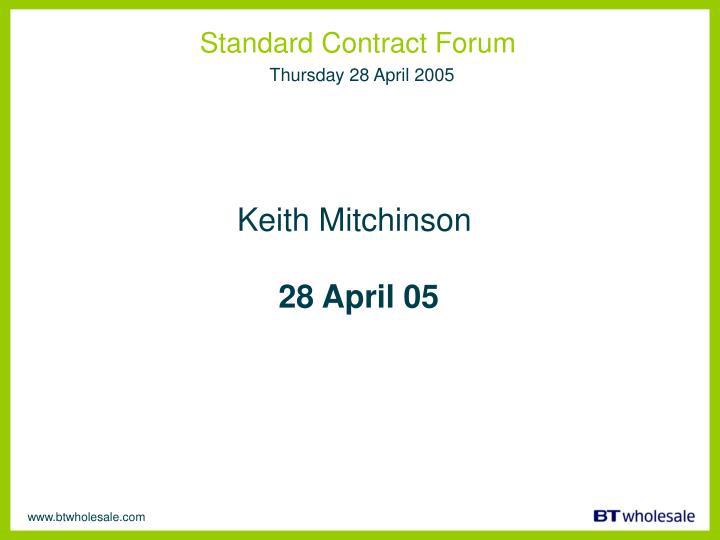 Standard Contract Forum
