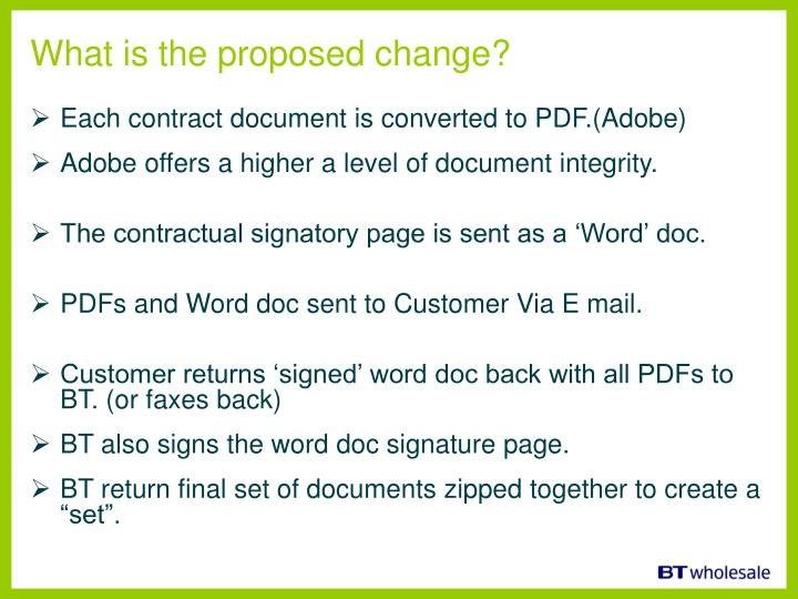 What is the proposed change?