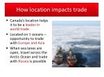 how location impacts trade