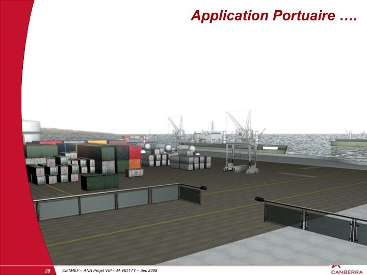 Application Portuaire ….