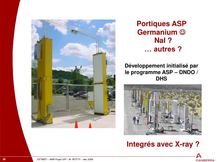 Portiques ASP Germanium