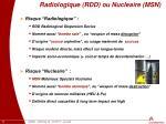 radiologique rdd ou nucleaire msn