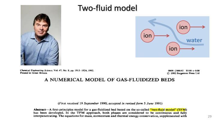 Two-fluid model
