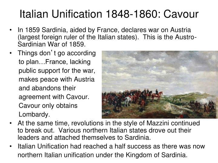 Italian Unification 1848-1860: Cavour