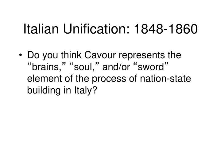 Italian Unification: 1848-1860
