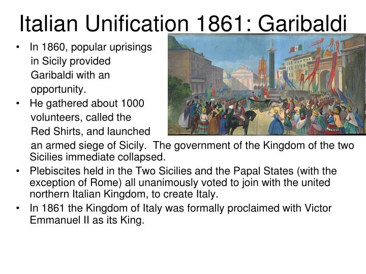 Italian Unification 1861: Garibaldi