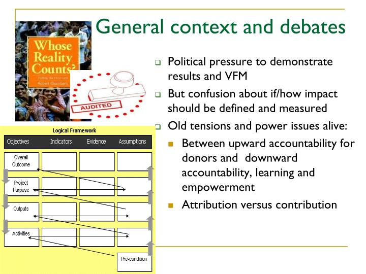 General context and debates