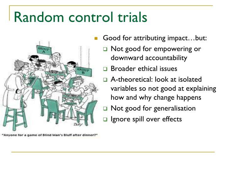 Random control trials