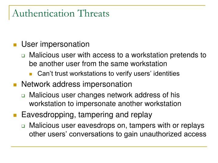 Authentication Threats