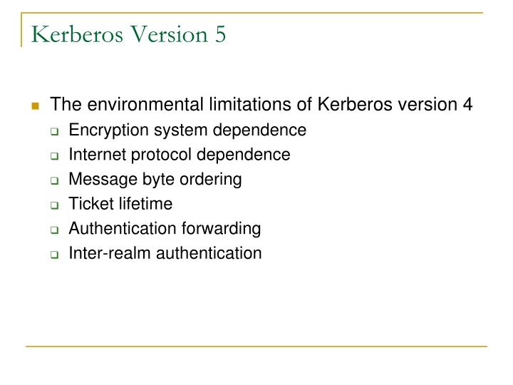 Kerberos Version 5