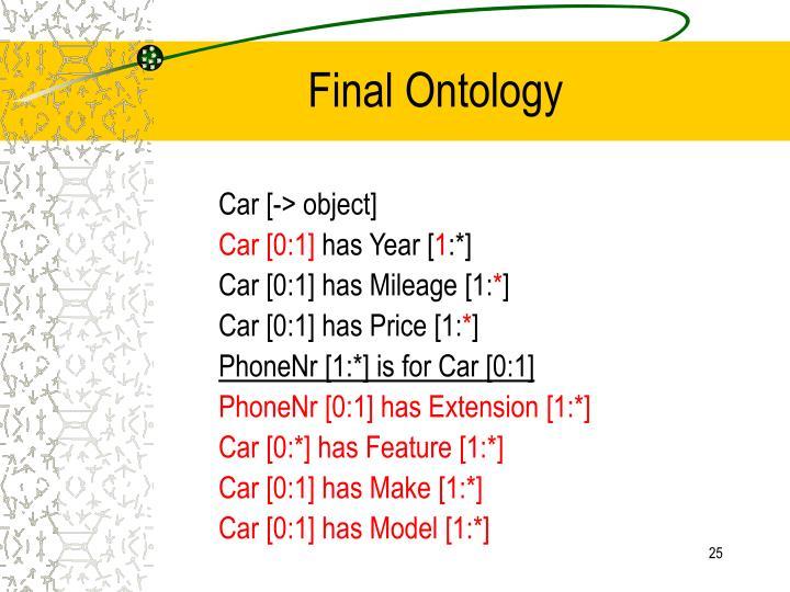 Final Ontology