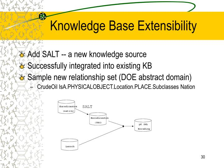 Knowledge Base Extensibility