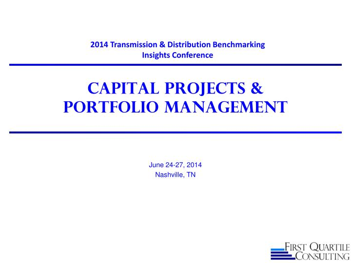 capital projects portfolio management