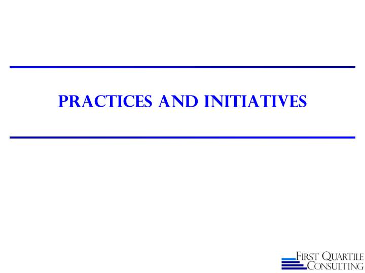 Practices and initiatives