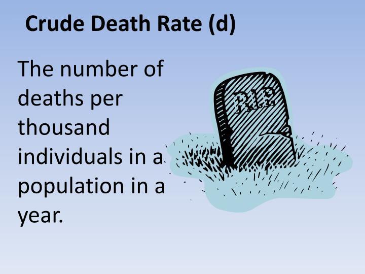 Crude Death Rate (d)
