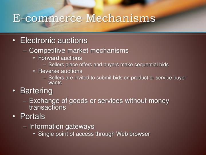 E-commerce Mechanisms
