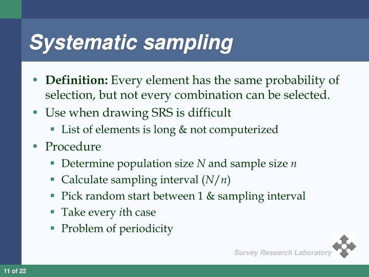 Systematic sampling