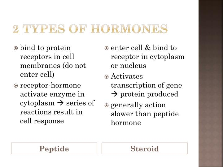 2 types of hormones