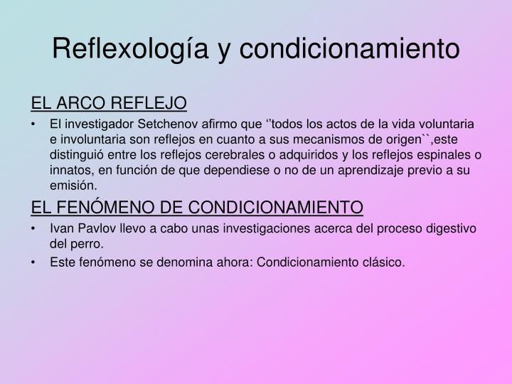 Reflexología y condicionamiento