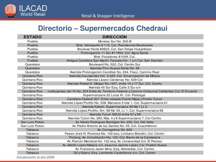 Directorio – Supermercados Chedraui