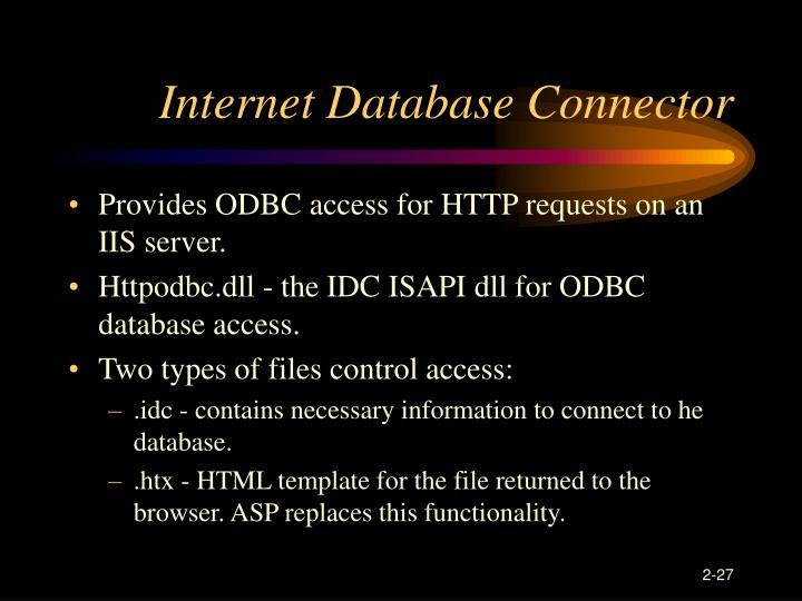 Internet Database Connector