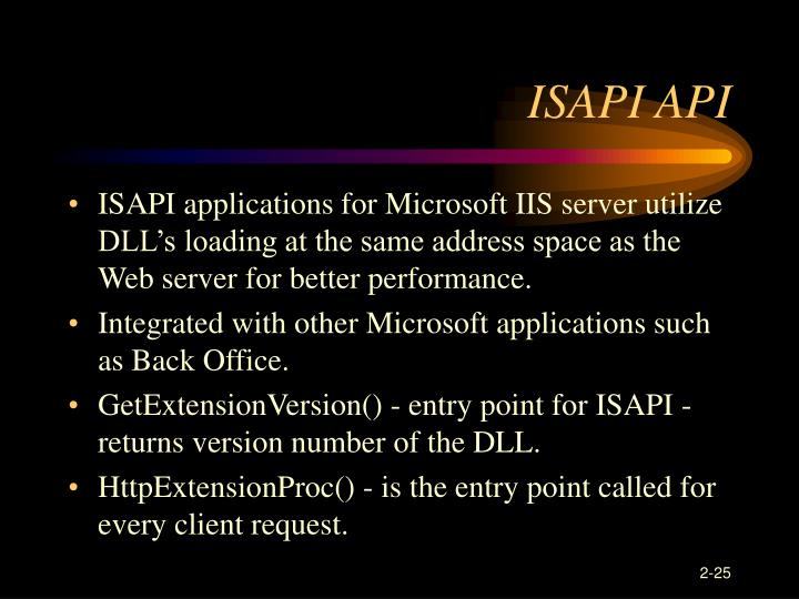ISAPI API