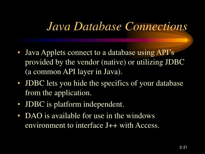 Java Database Connections