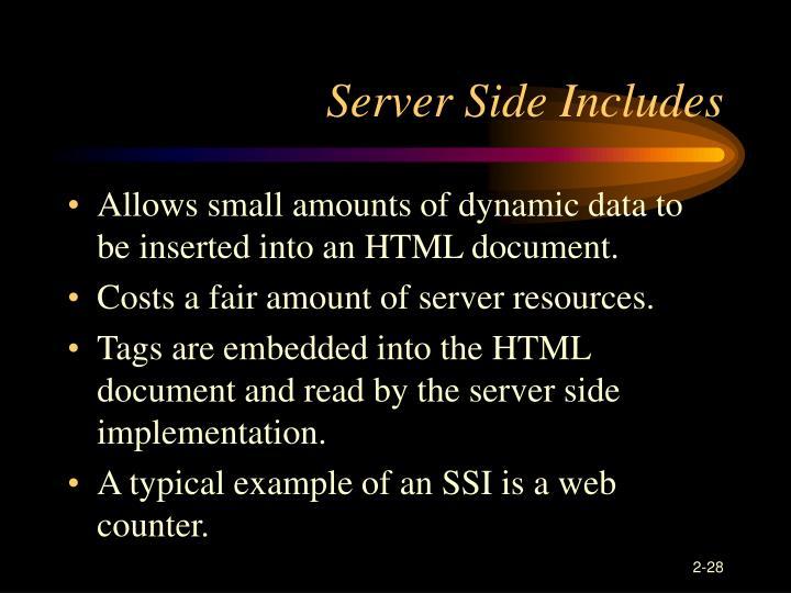 Server Side Includes