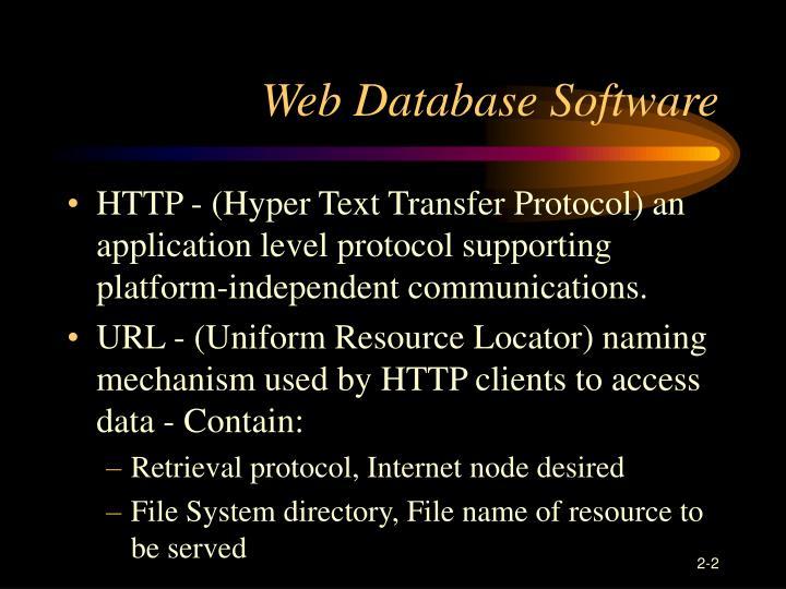 Web Database Software