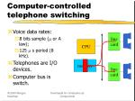 computer controlled telephone switching