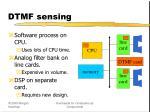 dtmf sensing