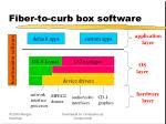 fiber to curb box software