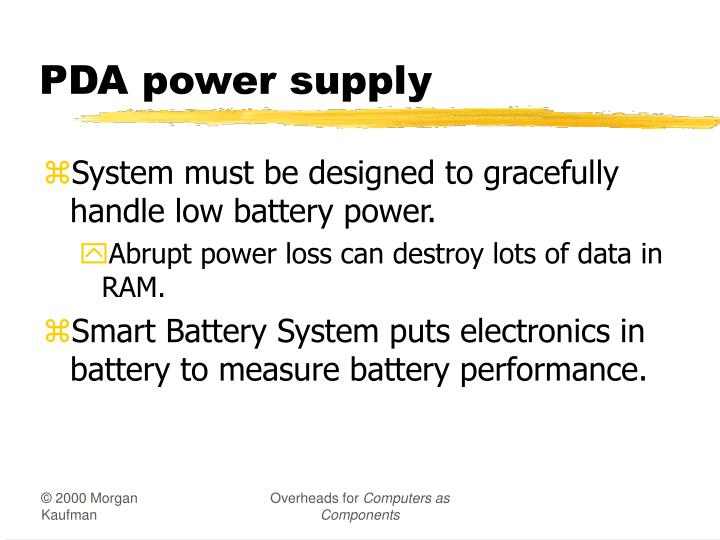 PDA power supply