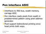 pen interface asic