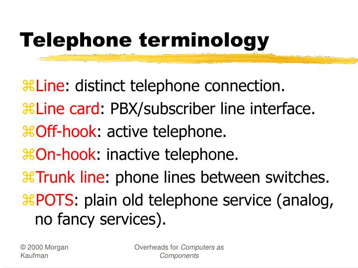 Telephone terminology
