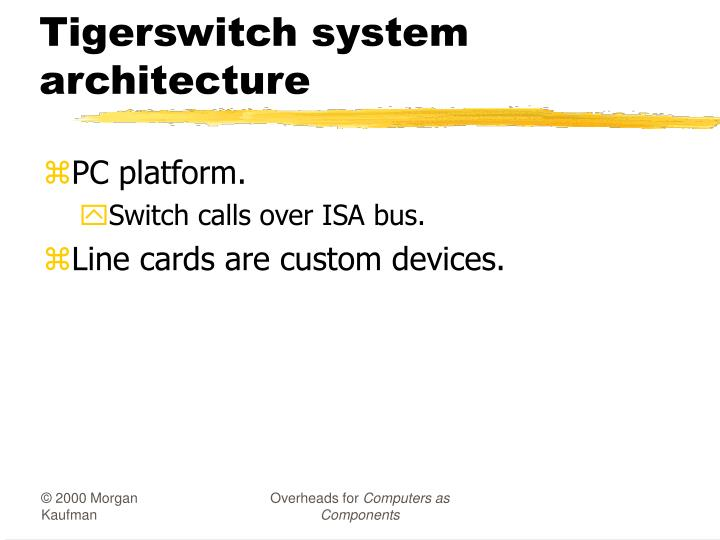 Tigerswitch system architecture