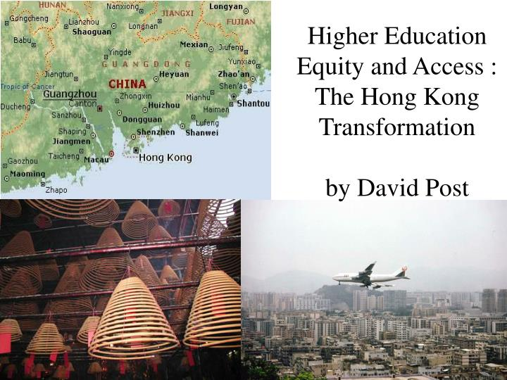 Higher Education Equity and Access :