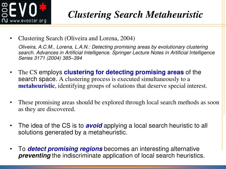 Clustering Search Metaheuristic