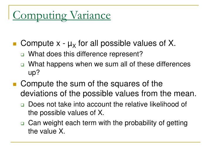 Computing Variance