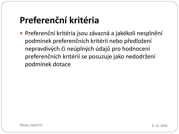 Preferenční kritéria
