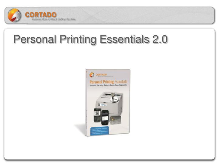 Personal Printing Essentials 2.0