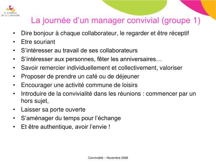 La journée d'un manager convivial (groupe 1)