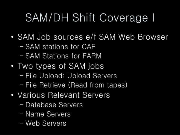 SAM/DH Shift Coverage I