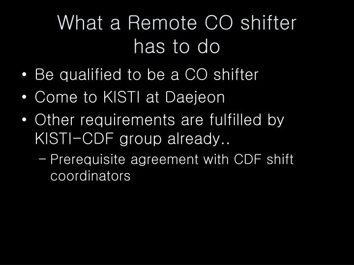 What a Remote CO shifter