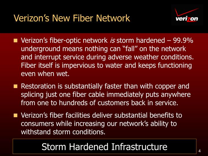 Verizon's New Fiber Network