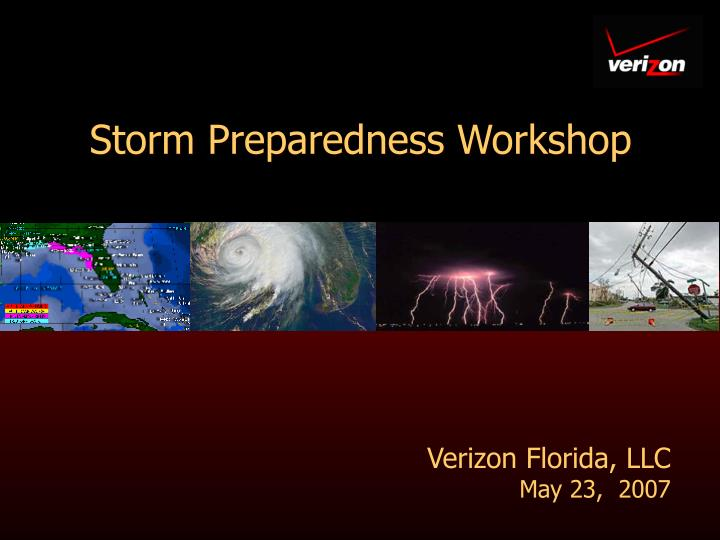 Storm preparedness workshop
