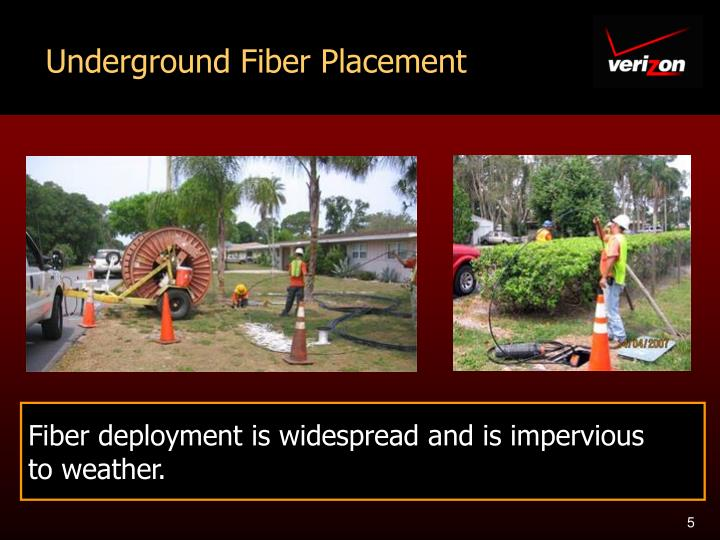 Underground Fiber Placement