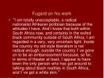 fugard on his work