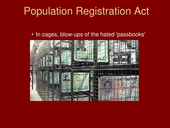 Population Registration Act