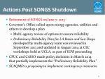 actions post songs shutdown